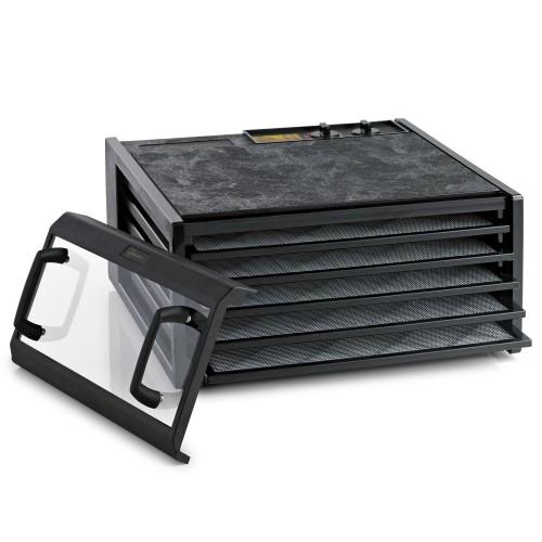 Excalibur Dehydrator, 5 bakker m/timer, sort/klar